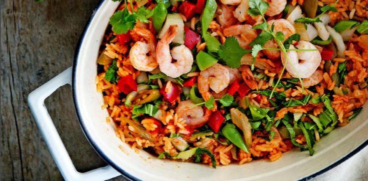 thaise rijst met garnalen en koriander - delicious.magazine