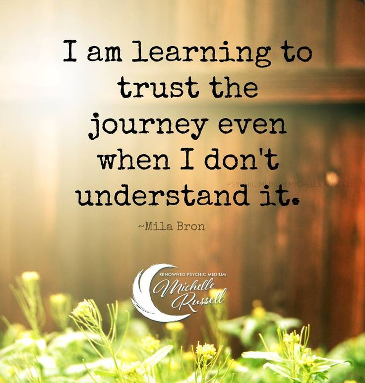 I am learning to trust the journey even when I don't understand it. - Mila Bron