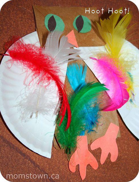 owl preschool craft by momstown, via Flickr