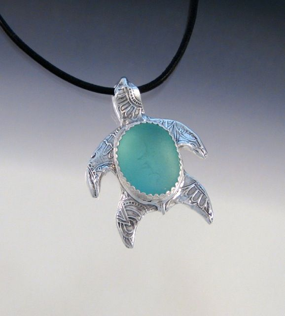 World Sea Turtle Day!   Check out my friend Art of Sea Glasss pretty little aqua sea turtle - it may be her last one.....  www.artofseaglass.com