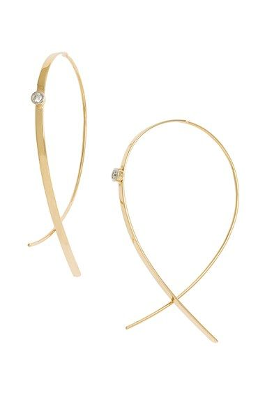 Lana Jewelry 'Small Upside Down' Diamond Hoop Earrings available at #Nordstrom