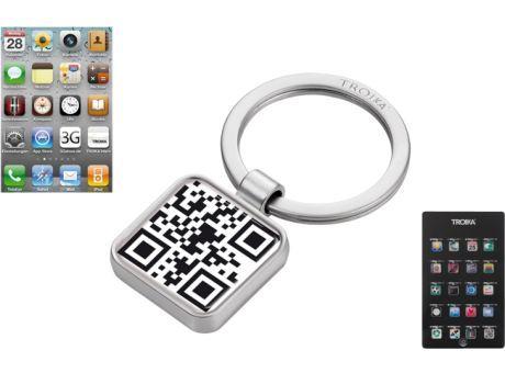 Schlüsselanhänger mit QR Code als Werbeartikel, Werbemittel und Werbegeschenk.