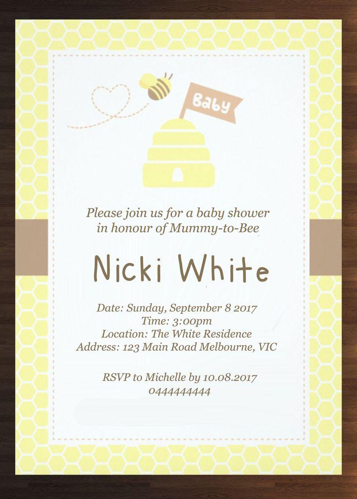Custom Unisex Baby Shower Invitation Prints