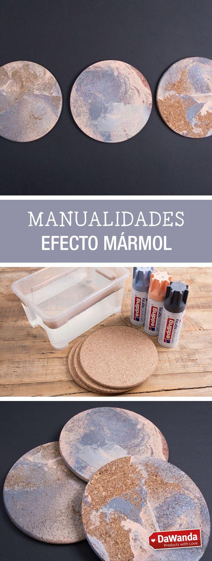 Tutorial DIY : Cómo hacer posavasos de corcho efecto mármol - en DaWanda.es