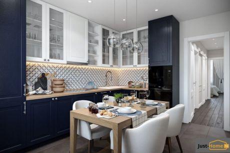 Кухня в классическом стиле. Кухня в синем цвете. Красивые кухни. #justhome#джастхоум#джастхоумдизайн ❤️❤️❤️Just-Home.ru Бесплатный каталог дизайн проектов квартир. Более 900 практичных и бюджетных проектов . Переходите на сайт и выбирайте лучшее! #идеиинтерьеракухни #дизайнинтерьеракухни #кухнякомната #идеиремонтакухни #кухня #кухняклассика #синяякухня #ремонт #Современныйдизайн #модныйинтерьер #design #interior