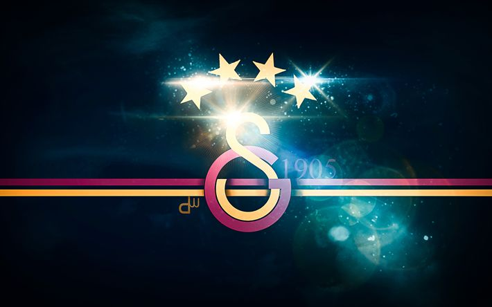 Download wallpapers 4k, Galatasaray SK, abstract art, lion, Super Lig, fan art, glare, Turkish football club, emblem, football, soccer, creative, Galatasaray FC