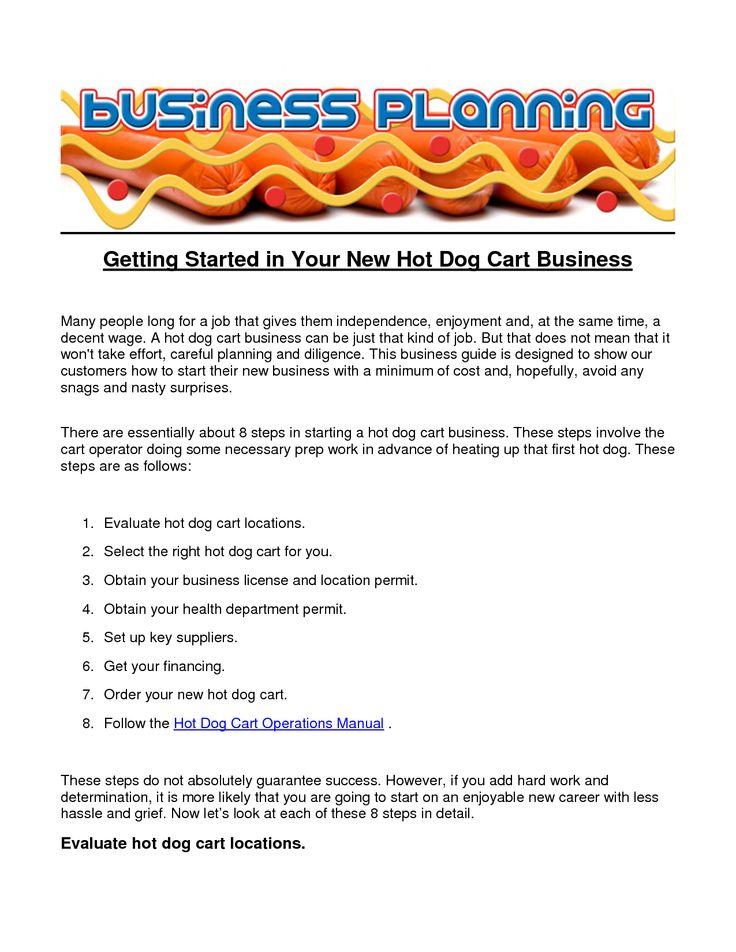 Free Hot Dog Cart Menu Templates