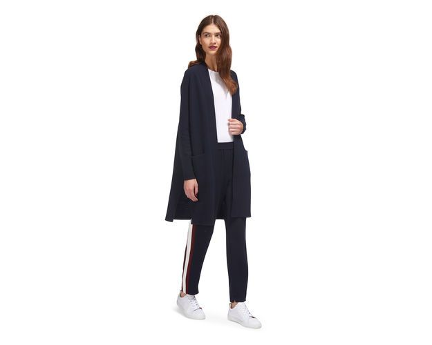 Boiled Wool Knit Cardigan, in Navy on Whistles