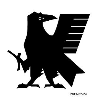 Yatagarasu graphic as used in the logo of the Japan National Football team, Blue Samurai. Yatagarasu guides Emperor Jimmu towards the plain of Yamato. In Japanese mythology, this three-legged flying creature is a raven or a jungle crow called Yatagarasu (八咫烏, eight-span crow).