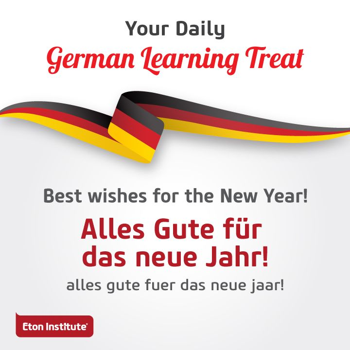 Learn to say 'Best wishes for the New Year' in German and share with your friends.