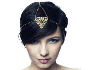 I love this chain halo head piece. Too bad I'm tall enough that most everyone wouldn't even be able to see it.