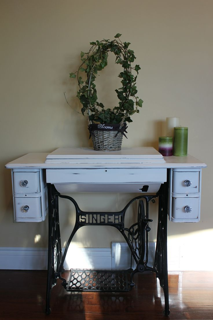 Second life of Singer sewing machine table