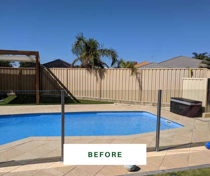 Backyard before the makeover https://fencemakeovers.com.au