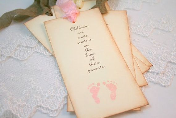 Personalized Baby Shower Bookmark Favors U Wall Decal