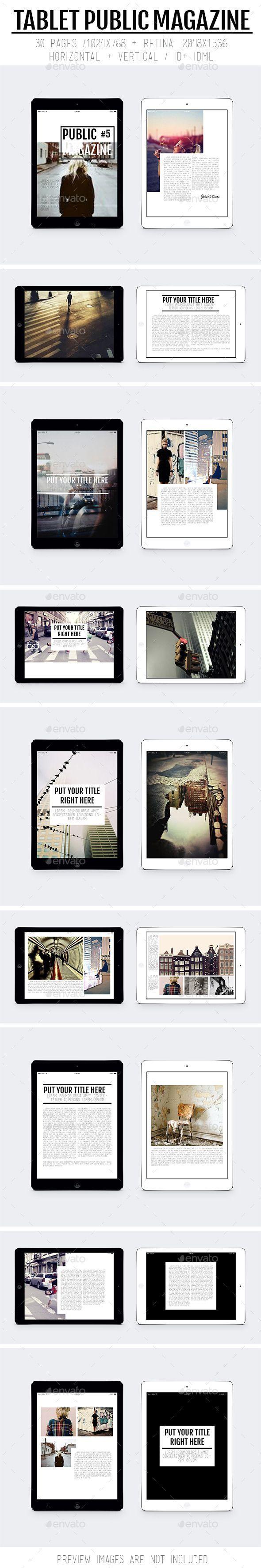 Tablet Public Magazine Template #design Download: http://graphicriver.net/item/tablet-public-magazine/9870326?ref=ksioks: