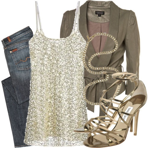love this outfit!!: Outfits, Fashion, Style, Clothes, Girls Night, Night Outfit, Date Nights, Sparkle, Top