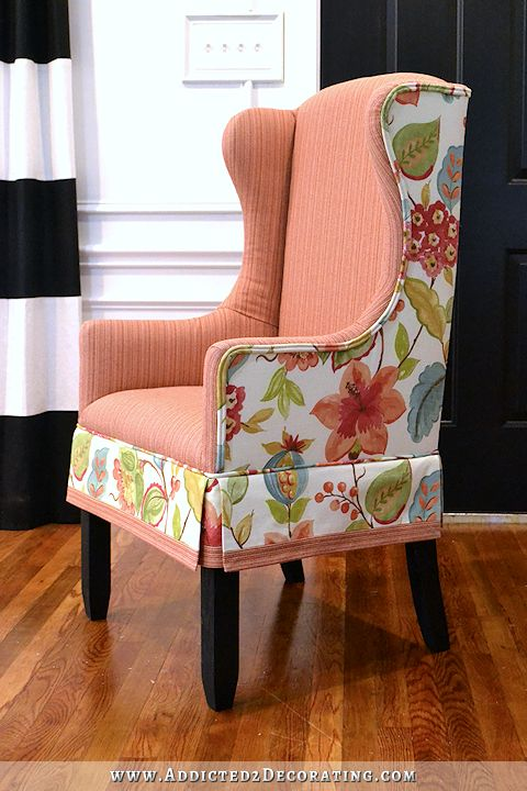 DIY Upholstered Wingback Dining Chair - Finished! (How To Upholster The Frame, Part 2)