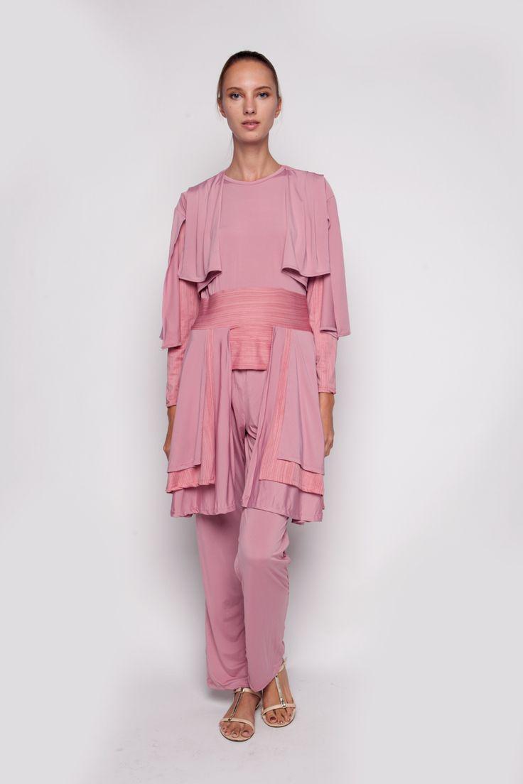 3 Pcs Set Pants Pink