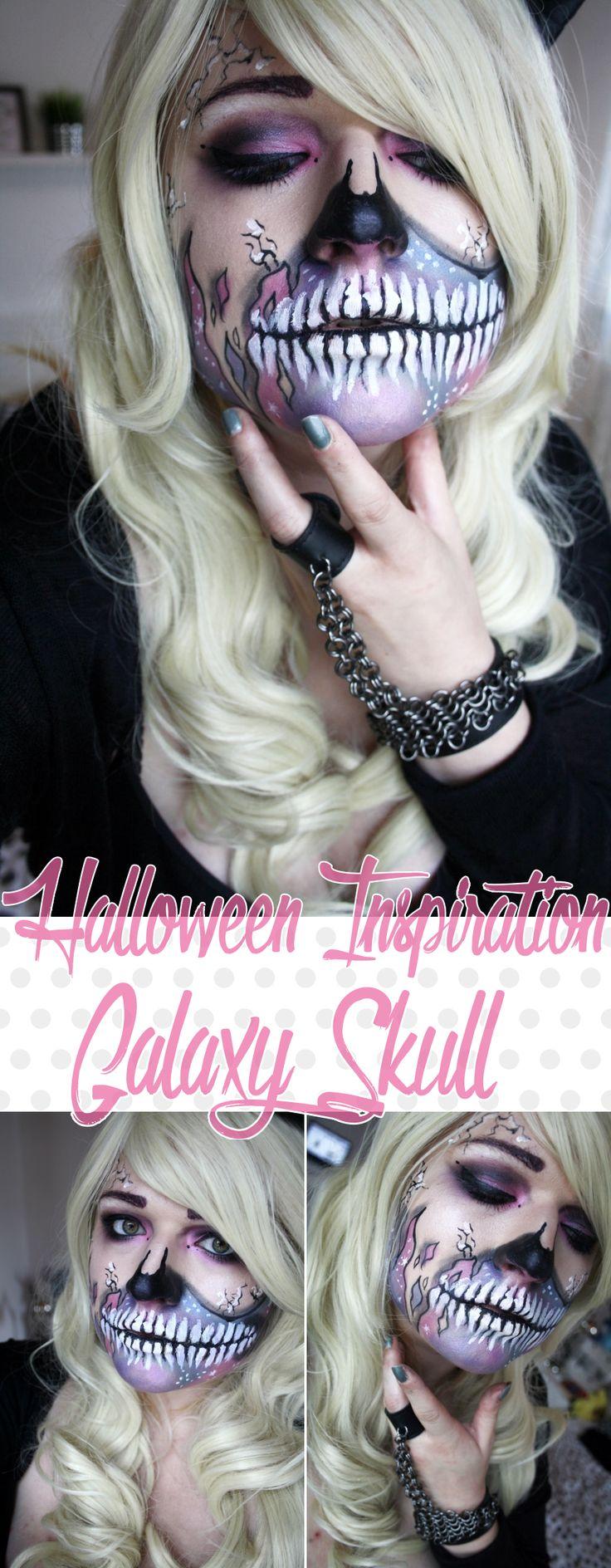Halloween Inspiration - Galaxy Skull  Eine Anleitung für alle die an Halloween oder Karneval Lust auf ein Skelett Make Up haben, dass sich von den anderen abhebt