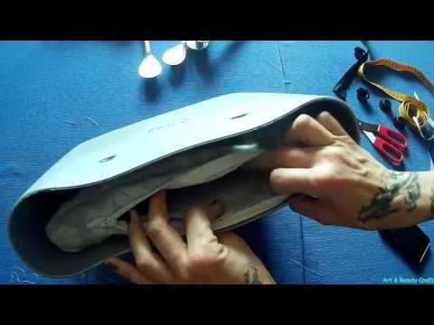 Bordo o bag in stoffa tutorial fai da te - YouTube