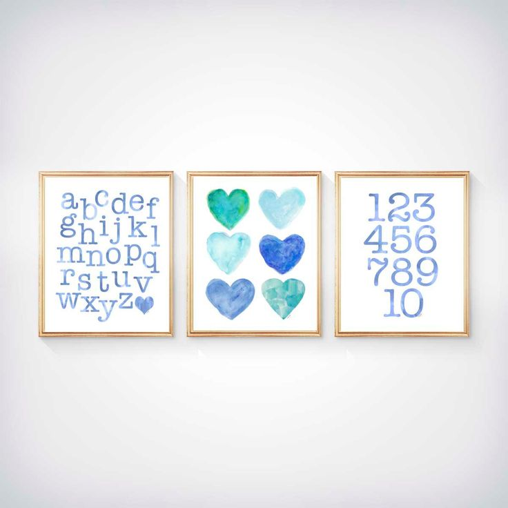 Aqua Kids Wall Decor, Aqua Blue Playroom Decor, Toddler Wall Decor, 8x10 Set of 3  Prints, Aqua Nursery, Aqua ABC 123, Blue Playroom Decor by OutsideInArtStudio on Etsy https://www.etsy.com/listing/276877570/aqua-kids-wall-decor-aqua-blue-playroom