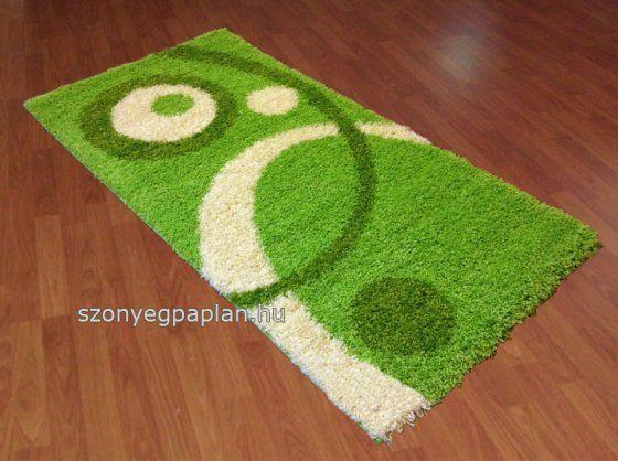 Shaggy zöld 700 karikás szőnyeg 120x170 cm