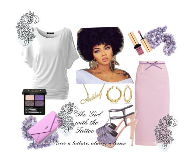 """""""The Girl With the Tattoo"""" by texasradiance on Polyvore featuring Roland Mouret, Carla G., Christian Louboutin, Yves Saint Laurent and Gucci"""
