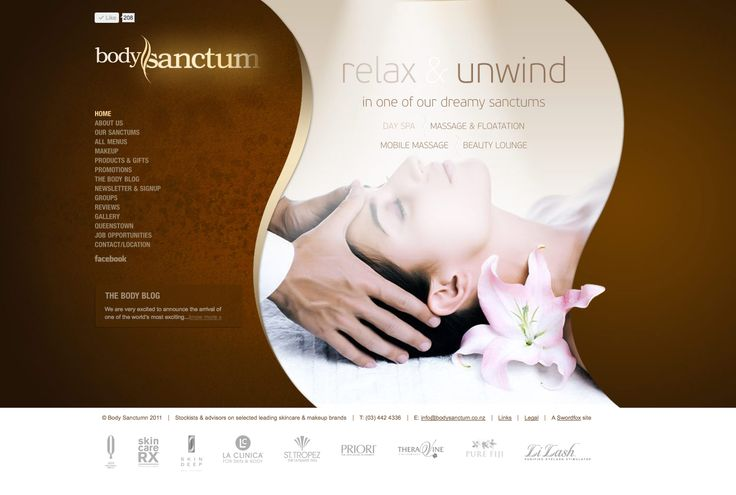 Website design & development for Queenstown's leading day spa. http://www.bodysanctum.co.nz
