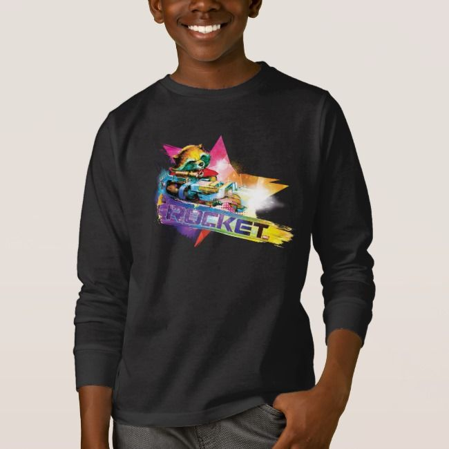 Marvel Boys Guardians Of The Galaxy Neon Groot T-Shirt