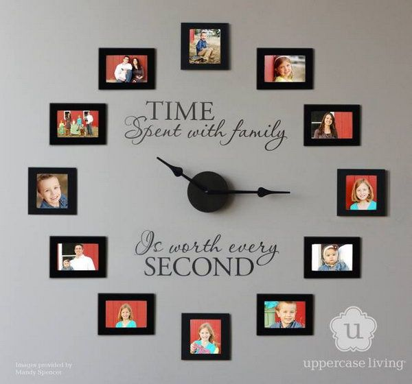 Time spent with family is worth every second. Picture frame wall clock idea. http://hative.com/diy-wall-clock-ideas-for-decoration/