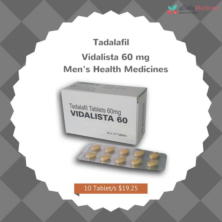 #MensHealth #medicines available online at @4DailyMedicine Order for #Tadalafil #vidalista60mg https://www.4dailymedicine.com/vidalista-60mg.html