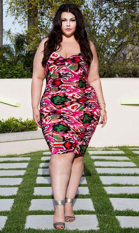 Pink & Green Plus Size Dress #UNIQUE_WOMENS_FASHION