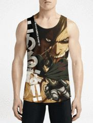 Attack On Titan / Guys Tank TopsShop Online Mens Workout Tank Gift Now Boys Long Tank Top OSOM WEAR Abstract Anime Art Comics Fantasy Gaming Horror Minimalistic Movies Music TV Shows Sports