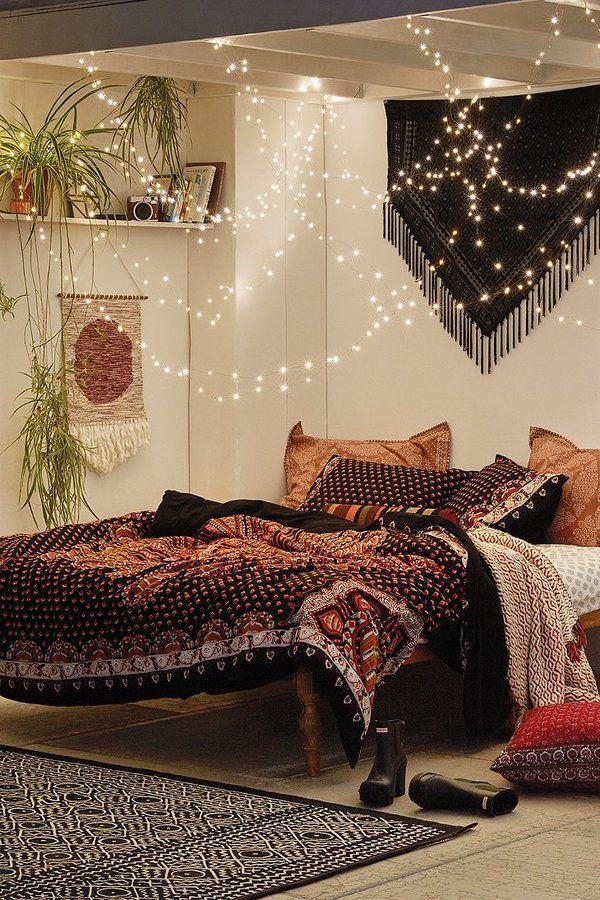 bo ho chic bedroom                                                                                                                                                     More