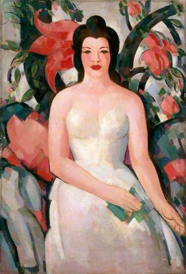 The Indian Curtain ... JOHN DUNCAN FERGUSSON  .   3/9/1874 --1/30/1961   .....   ... born in Leith, Scotland