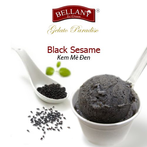 Bellany Black Sesame is nutritious and delicious. You will feel immediately novelty and attractive by roasted Vietnamese black sesame seeds, mixed with a whole milk base. Let's try it. #bellanyicecream, #blacksesame #icecream #kemmeden