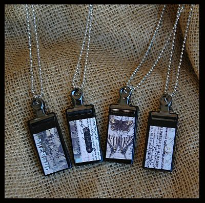 Domino necklaces