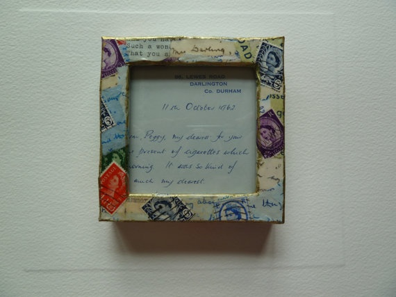 Little love letter frame with part of an by morethandivine on Etsy, £12.00