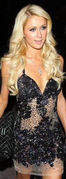 Paris Hilton mini dress #glitter