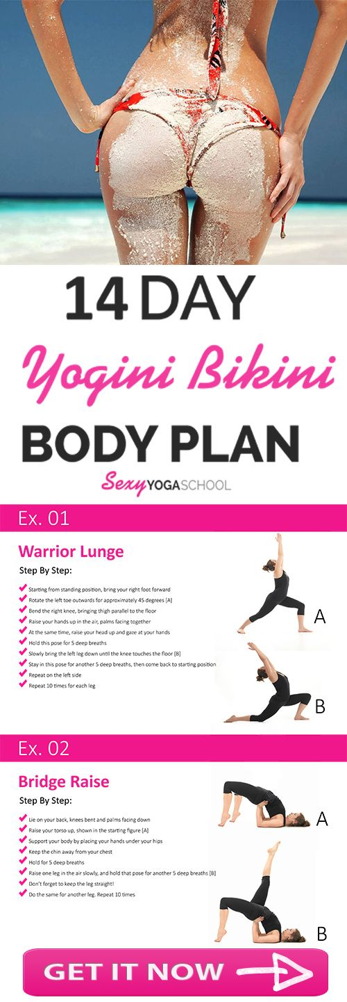 """Bikini Body Ready In 14 Days!  """"This FREE 14 Day YOGA BODY challenge will show you exactly what to do every day in order to get into your new bikini in 14 days or less...""""  XO, Nataliya"""