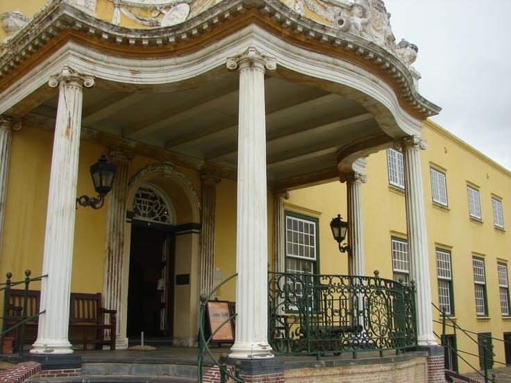 """De Kat - the balcony at the """"Kasteel""""  (Castle), Cape Town  House of Simon van der Stel"""