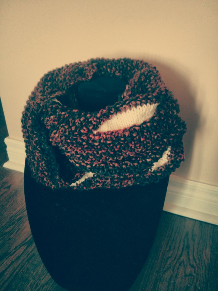 The Ace two tone cowl, Copacetic Knits on Etsy; vintage inspired, original, handmade