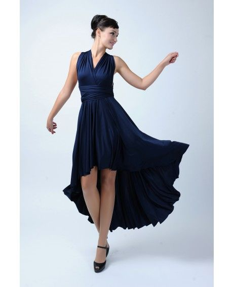 High low  Infinity Bridesmaid dress in Navy blue