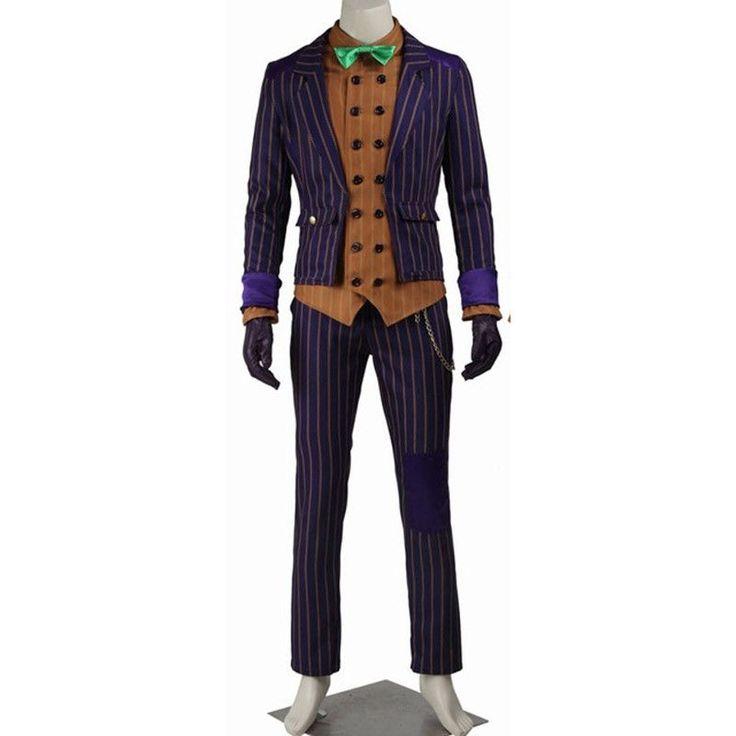 Hot Sale Batman Arkham Knight Joker Cosplay Costume Batman Men Joker Suit Halloween Costumes Full Set