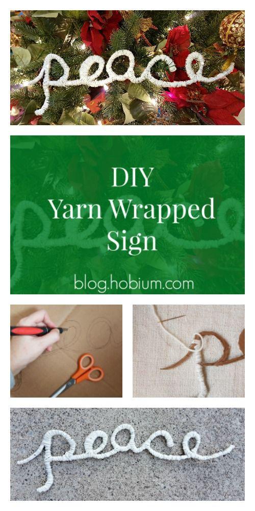 DIY Yarn Wrapped Word Tutorial | Hobium International