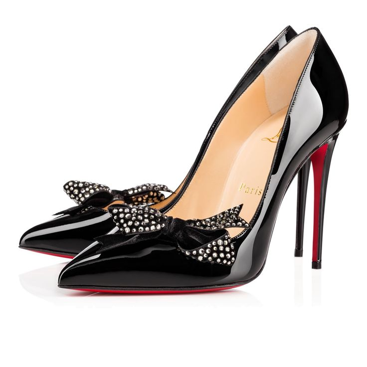 Women Shoes - Madame Menule 100 Patent/velvet/strass Strass - Christian…