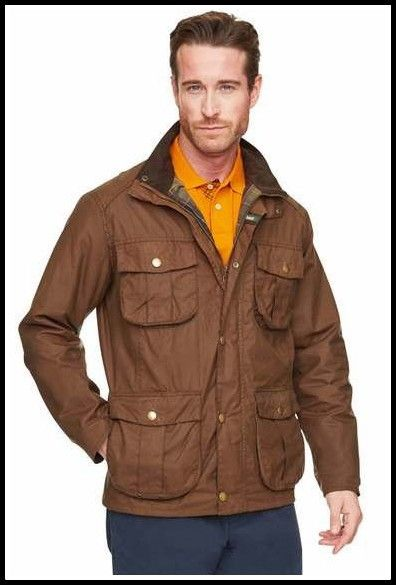 Barbour New Utility Mens Wax jacket in Bark MWX0827BR31 from Smyths Country Sports