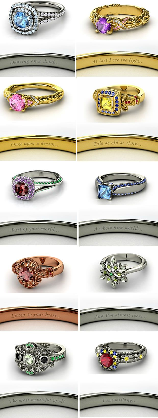 17 Best 1000 images about Disney Inspired Engagement Rings and Wedding