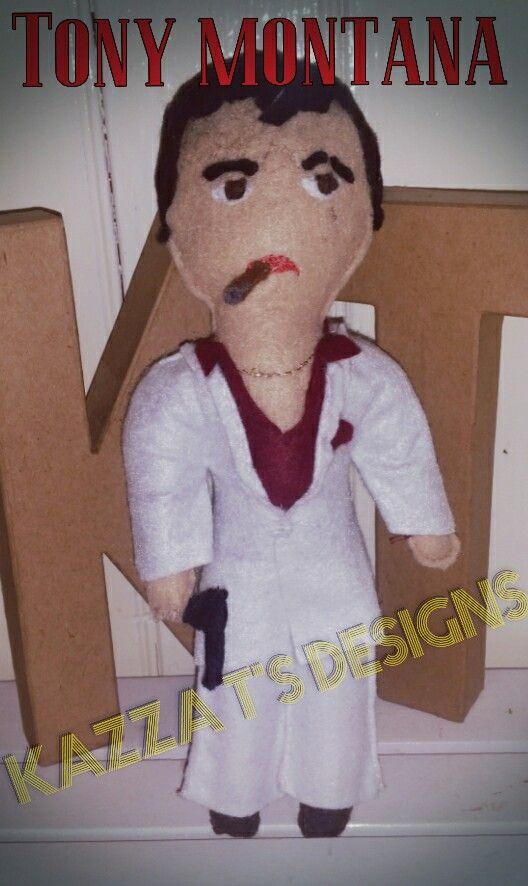 tony montana handmade felt plush doll  #kazzatsdesigns #feltplushdolls #beingcreative #favecharacters