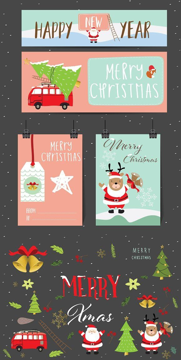 Cute Christmas Collection1 Christmas Cards Free Christmas Card Template Christmas Cards